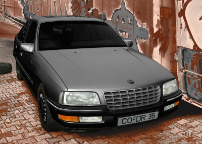 Opel Senator B in black & grey metallic