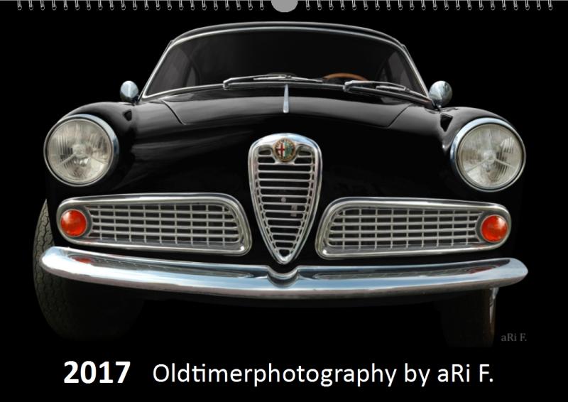 Alfa Romeo Giulietta Sprint 1600, Titelblatt für Kalender 2017