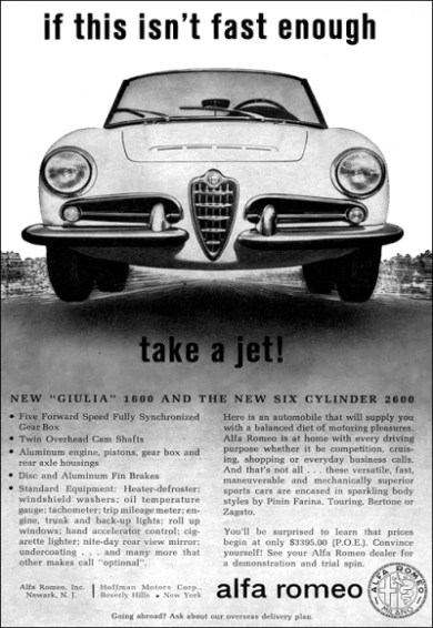 Alfa Romeo - take a jet! Advertising Pubblicità Werbung Broschur