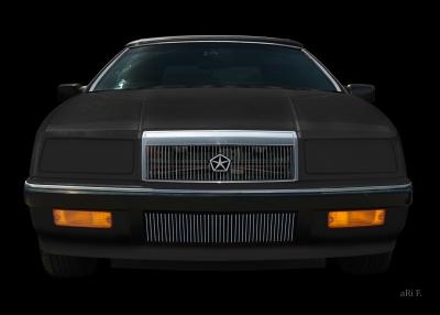 Chrysler LeBaron Convertible in black & black