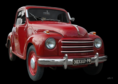 NSU-Fiat Topolino C in black & red (Originalfarbe)