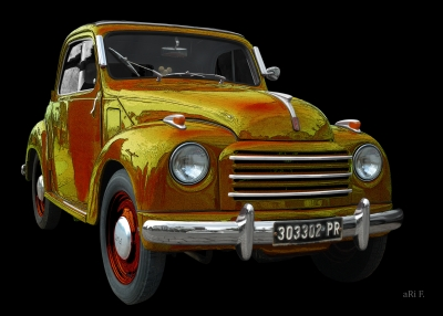 NSU-Fiat Topolino C in black & yellow-red mix