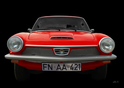 Glas 1300 GT in black & red (Originalfarbe)