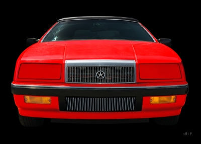 Chrysler LeBaron Convertible in black & red (Originalfarbe)