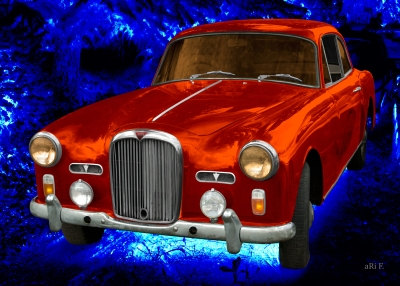 Alvis TD21 for sale in blue & orange
