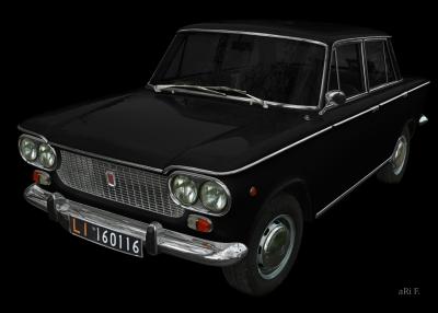 Fiat 1500 in black & black (1961-1968)