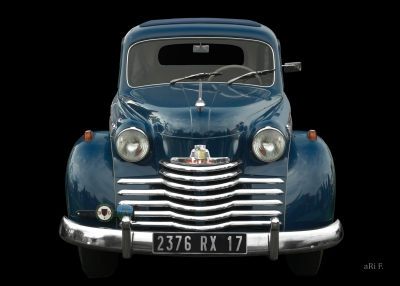 Opel Olympia Poster in blue & black 01 (Originalfarbe)