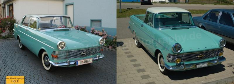 Opel Rekord P2 Limousine und Rekord P2 Pick-up