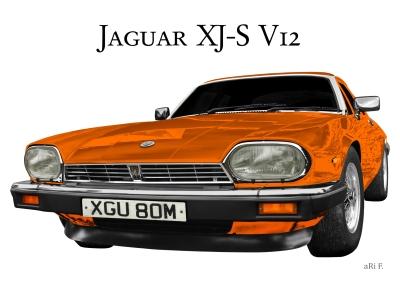 Jaguar XJS Classic Car Poster for sale