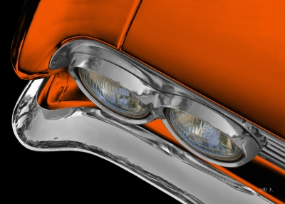 Buick Special 1961er front detail in black & orange