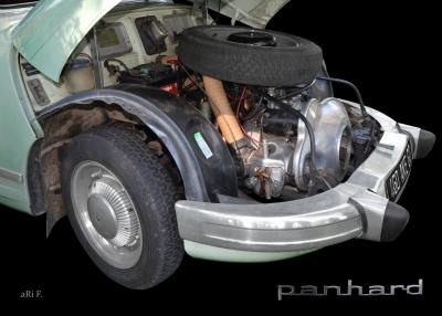 Panhard PL 17 mit 848 ccm 2-Zylinder Viertakt Boxermotor