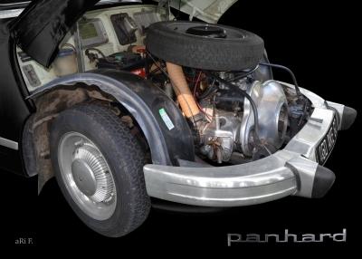 Panhard PL 17 mit 848 ccm 2-Zylinder Viertakt Boxermotor Poster