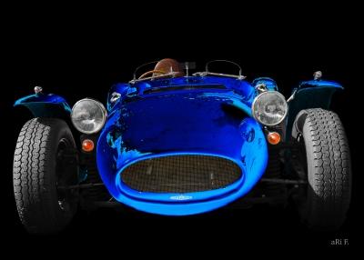 Ronart Jaguar W152 front view Poster in blue