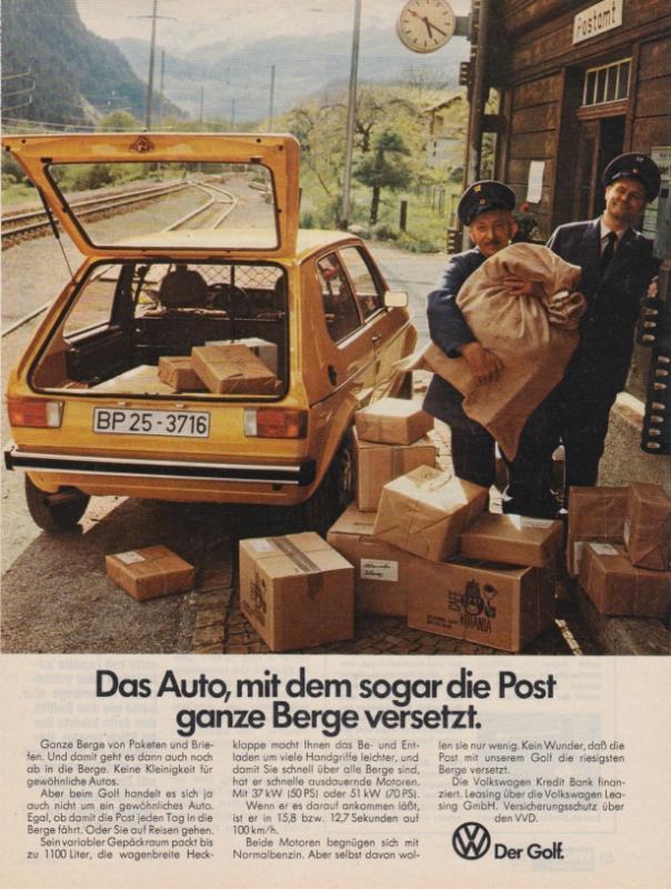 Werbung für Post Golf 1