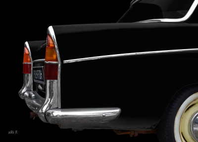 Morris Oxford Series V (1959-1961) Poster rear fins