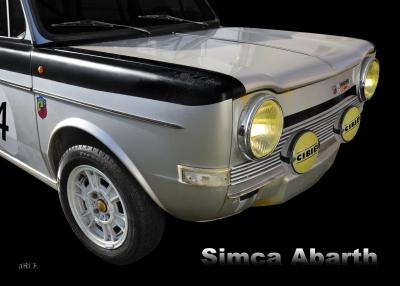 Simca Abarth 1150 Poster in Originalfarbe