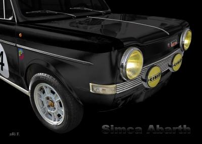 Simca Abarth 1150 Poster in darkblack
