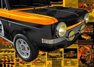 Simca Abarth Rallye Poster