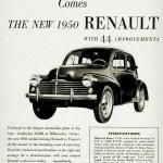 Renault 4CV Werbung in USA 1950
