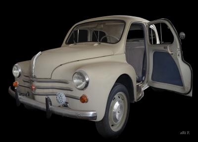 Renault 4CV Cremeschnittchen Poster kaufen