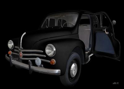 Renault 4CV Cremeschnittchen Poster