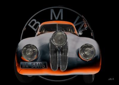 BMW 328 Coupé Migle Millia Poster