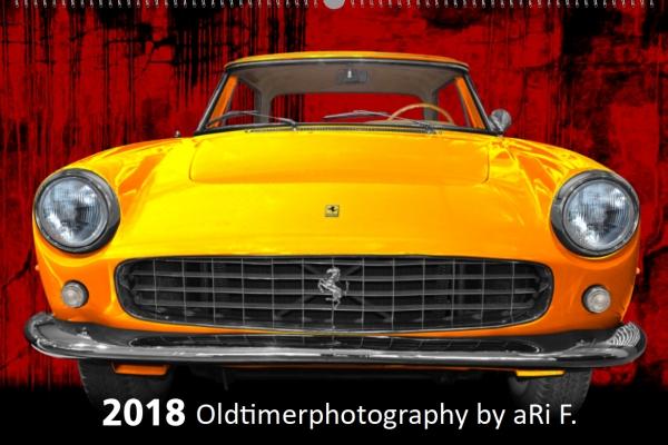 Oldtimer-Kunstkalender 2018 DIN A2 mit Ferrari 250 GT als Titelblatt