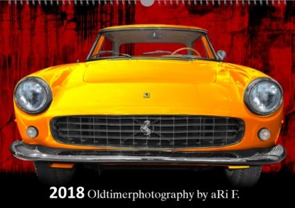 Oldtimerkalender 2018 Oldtimer-Kalender 2018 - Oldtimer Kunstkalender mit Ferrari 250 GT Coupé als Titelblatt
