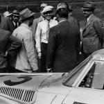 Huschke von Hanstein nach dem I. Gran Premio Brescia delle Mille Miglia (28.04.1940)