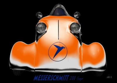 Messerschmitt KR 200 Super Rekordfahrzeug Roller in orange