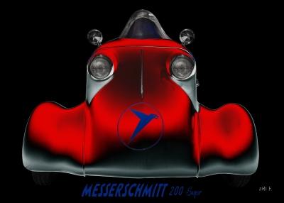 Messerschmitt KR 200 Super Roller Rekordfahrzeug Poster