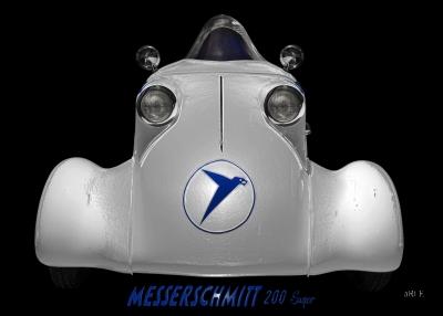Messerschmitt KR 200 Super Frontansicht Rekordfahrzeug
