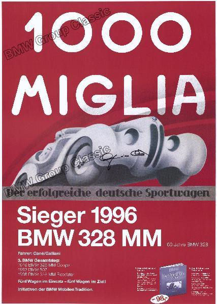 Plakat 1000 Miglia - Der erfolgreiche deutsche Sportwagen 1996