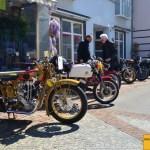 Klassische Motorräder in Schulstraße/Langenargen