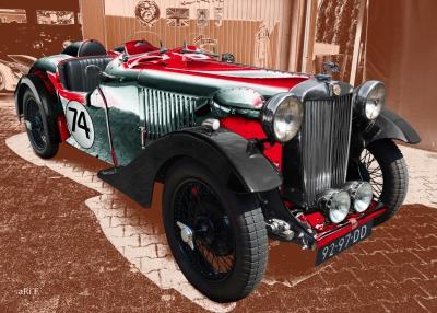 MG VA Classic Car Poster