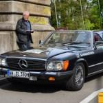 Mercedes-Benz 380 SL 163 PS Baujahr 1985 Team Sennheiser