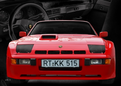 Porsche 924 Carerra Poster in Originalfarbe