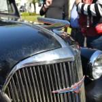 Chevrolet Master Coupe 1937 Teilansicht Kühlergrill mit Kühlerfigur