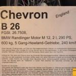 Chevron B 26 technische Daten