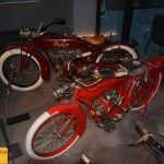 Indian Four und Indian Power Plus Classic Bikes im Museum Art & Cars