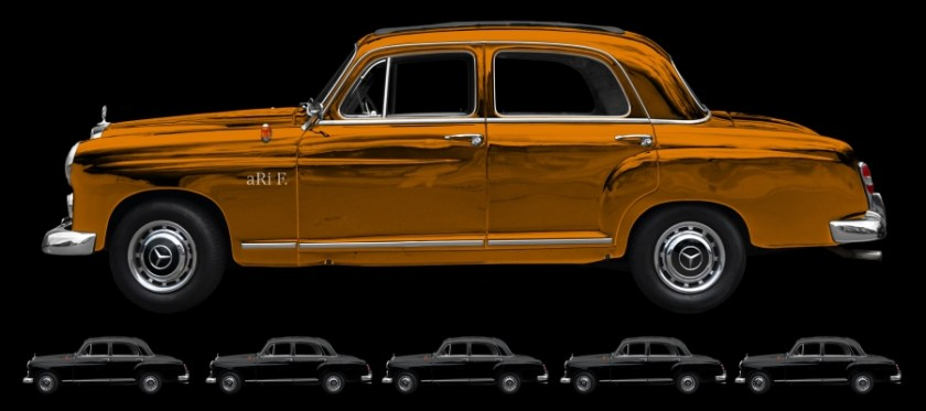 Mercedes-Benz 190 Db Ponton W 121 aRt-Car Poster