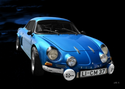 Alpine A110 Originalfarbe Poster