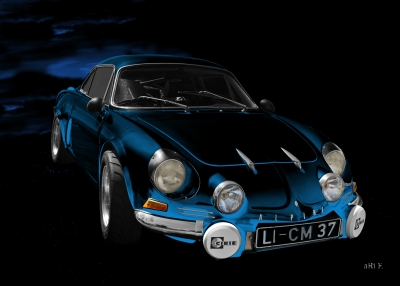 Alpine A110 Poster for sale