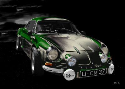Alpine A110 Art Car by aRi F.