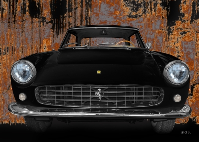 Ferrari 250 GT Art Car Poster
