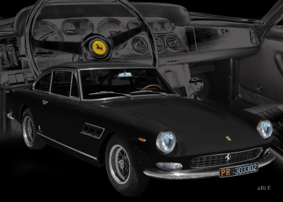Ferrari 330 GT 2+2 Art Car Poster