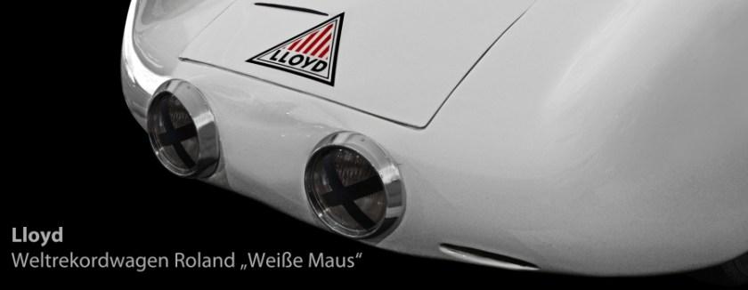 Lloyd Roland Weisse Maus, der Weltrekordwagen von 1954