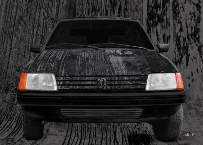 Peugeot 205 Art Car in black