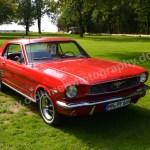 Ford Mustang in rot bei der 4. Kressbronn Classics