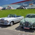 Mercedes-Benz SE und Jaguar Mark 2 beim Hymer Museumsfest 2017